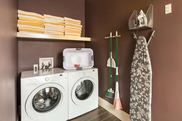 Pack lighter with the help of the downstairs laundry room