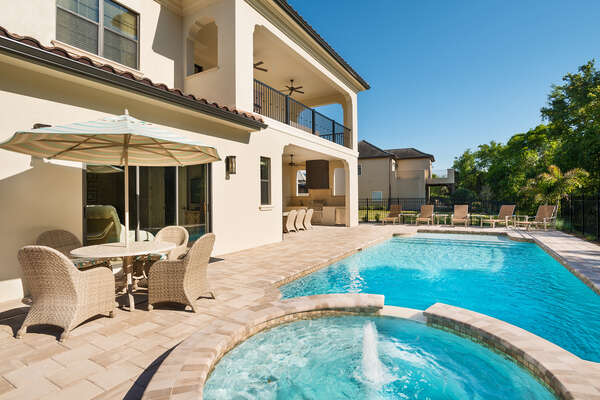 Swim the day away in your own private pool