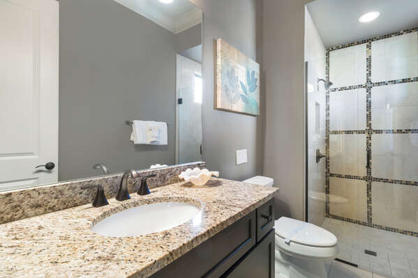 En-suite master bathroom with walk-in shower