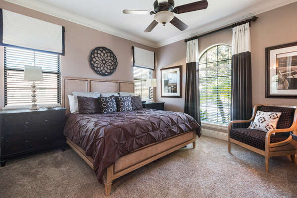Retreat to the tranquility of downstairs master suite 4 bedroom