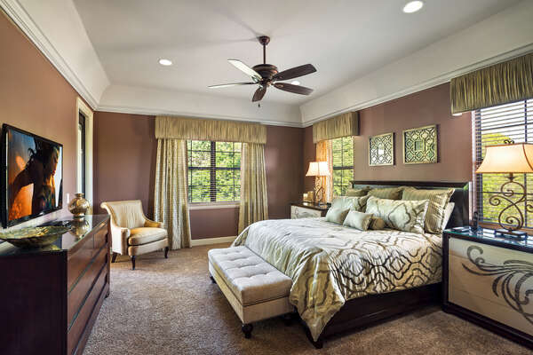 Upstairs master suite 2 bedroom has direct balcony access with amazing views and 50-inch SMART TV