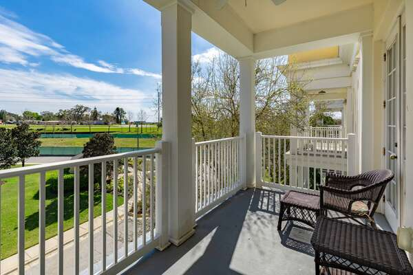 Step out onto your third floor balcony