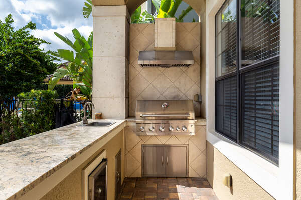 Grill something great on the summer kitchen