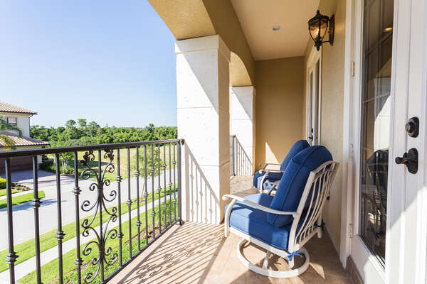 Enjoy the view from the private balcony of bedroom 5