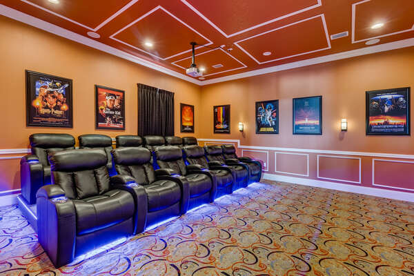 The magic of the movies comes alive in the home theater/games room