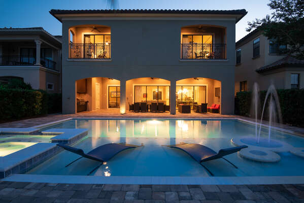 A luxury pool perfect for an evening swim