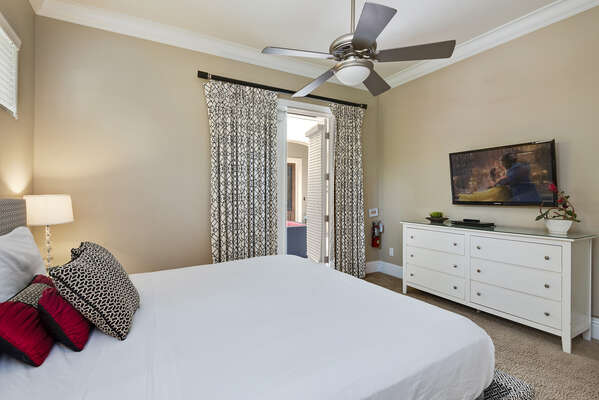 Master Bedroom with access to the private courtyard