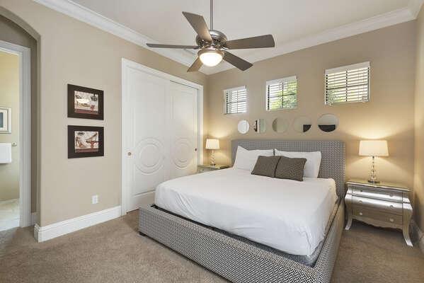 Comfortable luxury king suite