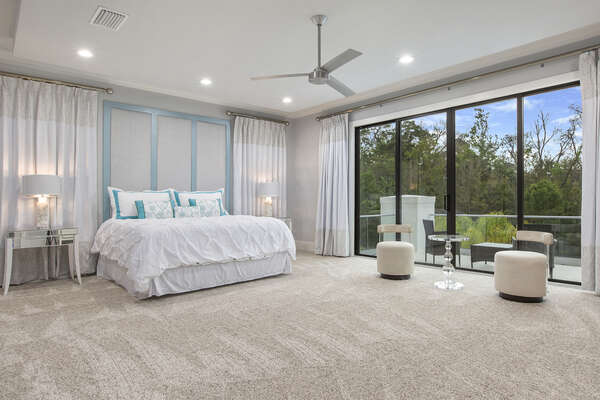 Grand master suite 2 located on the second floor