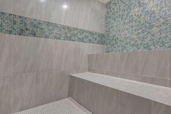 Prefer to steam away the stress of a day, you also have your own steam room