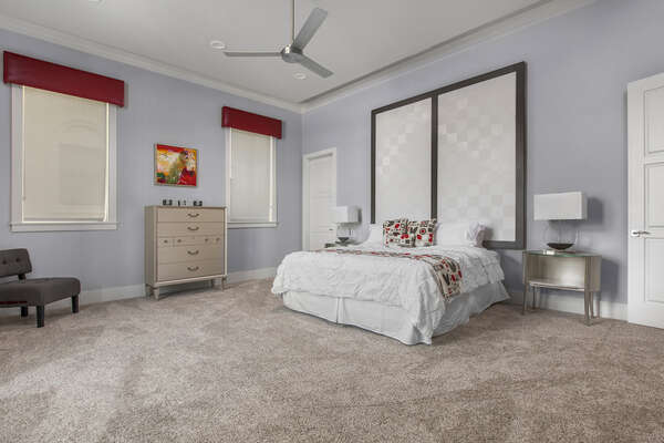 Master suite 5 located on the first floor