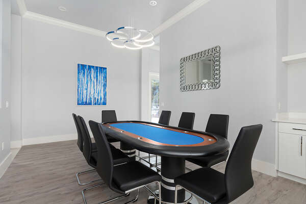 Head upstairs to the Poker Lounge