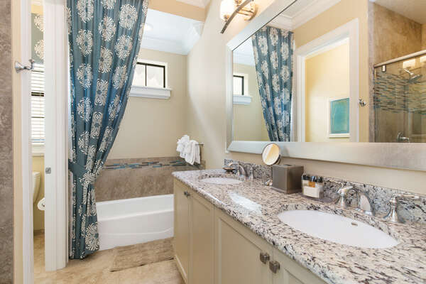 Gorgeous bathroom with double sinks