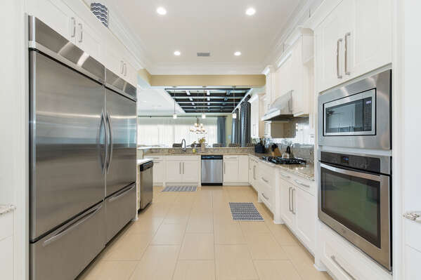 Enjoy the fully equipped kitchen for whipping up home cooked meals