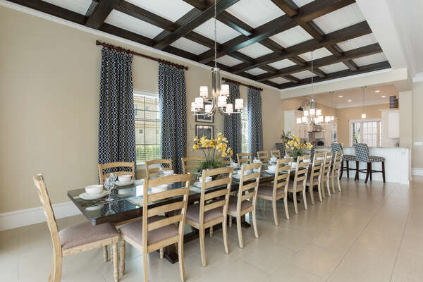 Have a family-style dinner and reminisce on the day's activities