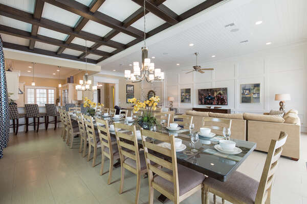 Have breakfast at the large dining room table that seats 18