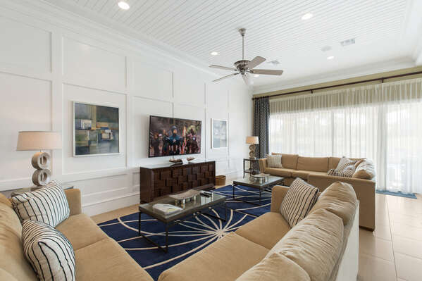 Cozy up with the family in the large living room seating area