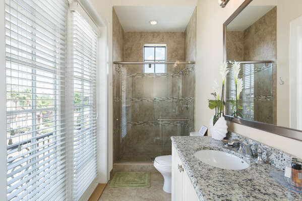 Beautifully decorated bathrooms throughout home