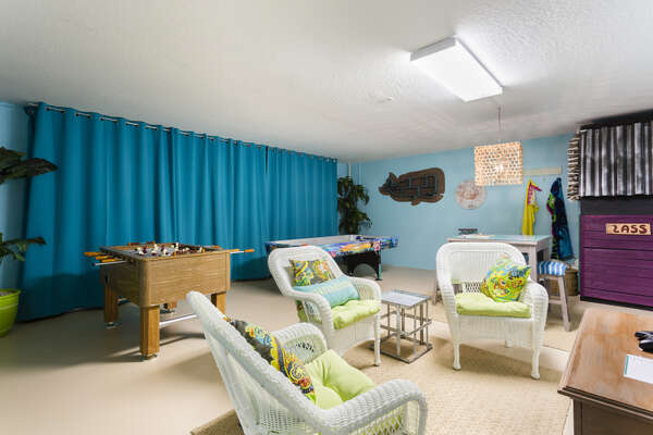 Enjoy this games room perfect for the entire family
