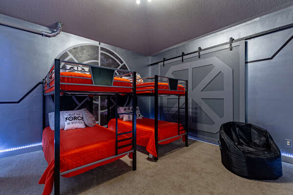 Kids will be blown away by this galactic bedroom