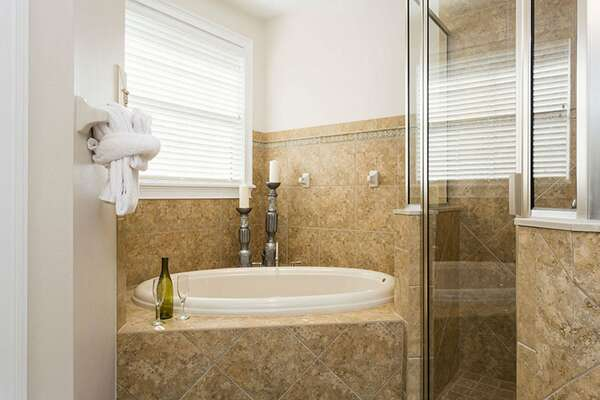 It also had a walk-in shower and gardent tub
