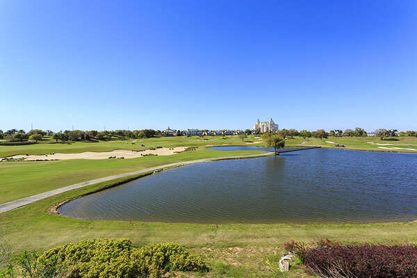 Beautiful lake and golf course views from rear balcony