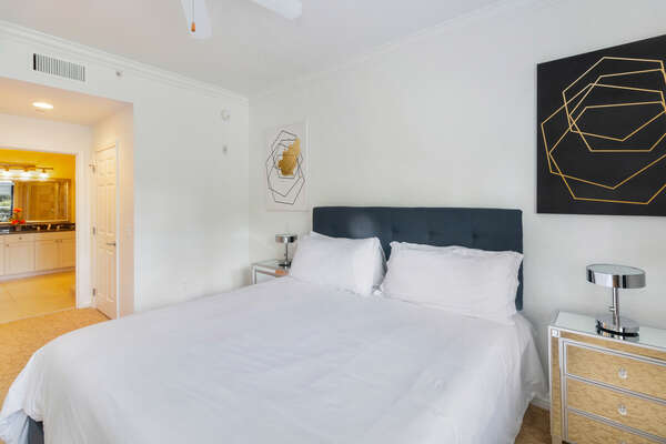 The Master suite features a King bed and 55-inch SMART TV