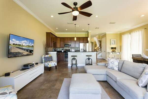 Beautiful open plan living space for your family to enjoy