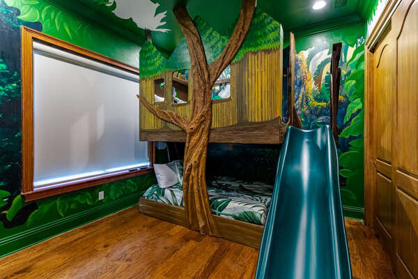 let the imagination go wild in this customized tree house bedroom