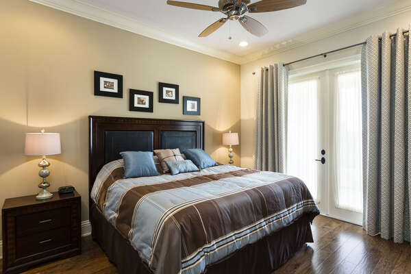 Yet another beautiful master bedroom with a King bed to cozy into at night