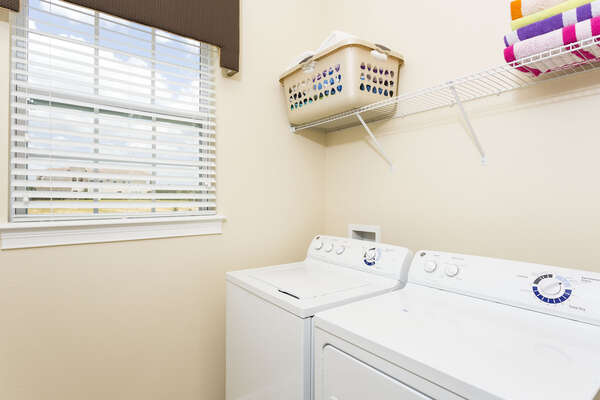 Downstairs laundry room for your convenience