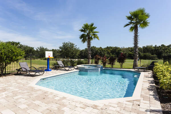 Refreshing 30 x 25 ft pool with great views overlooking the golf course