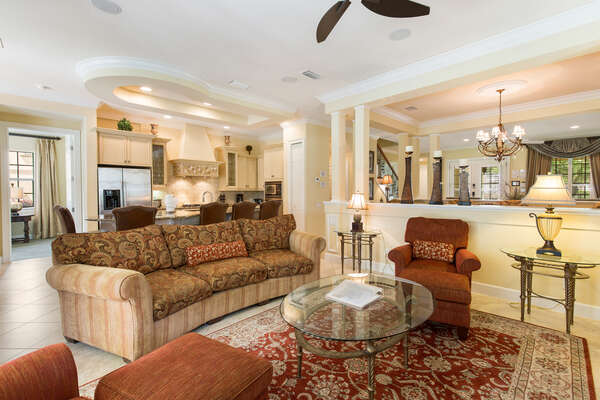 Comfortable seating in the living area