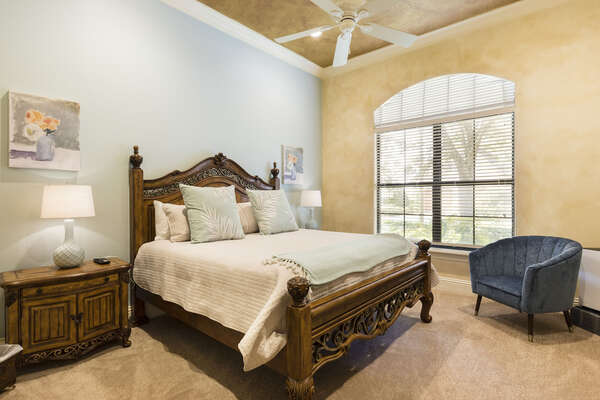 6th bedroom within the guest room that boats a separate entrance to the home for extra privacy