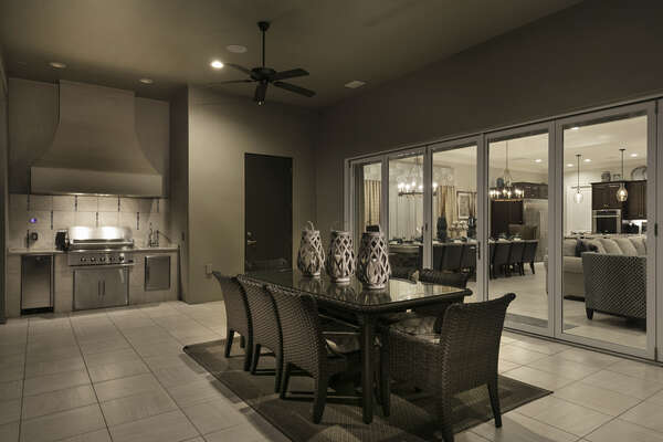 Enjoy outside dining in your private lanai