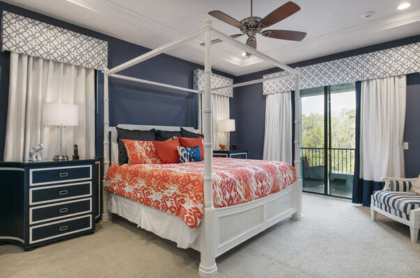 Master Suite 6 with access to patio balcony