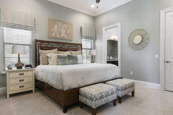 Master Suite 2 features a king bed and en-suite bathroom