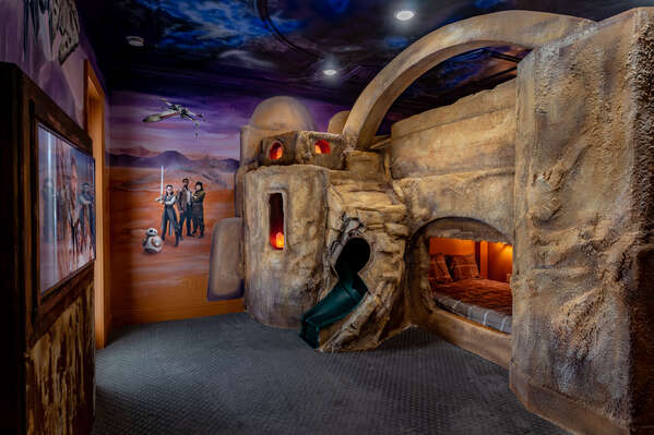 Welcome to the desert planet themed bedroom in a galaxy far far away located on the second floor