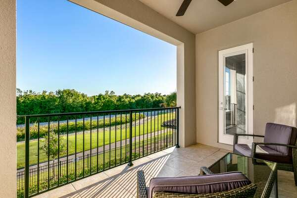 Enjoy the amazing views from the balcony