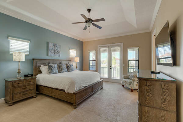 Ultimate comfort in the second-floor master suite