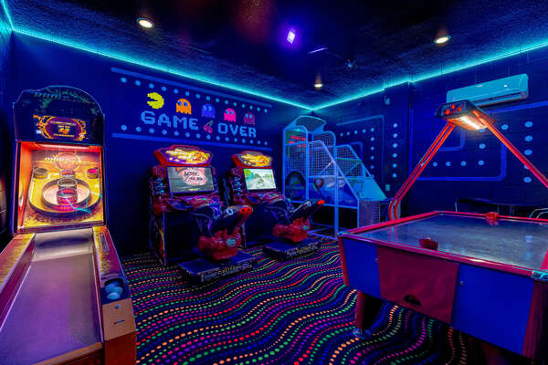 Get lost in hours of fun in the Classic Arcade Room