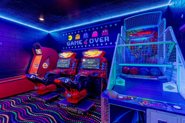 Choose from a variety of arcade games