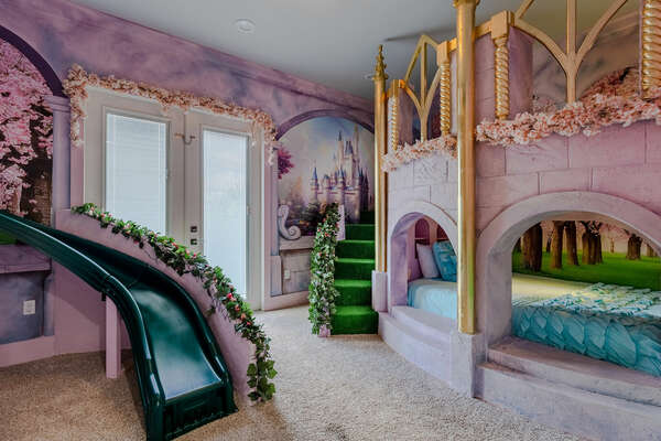 This custom built themed bedroom is perfect for princesses