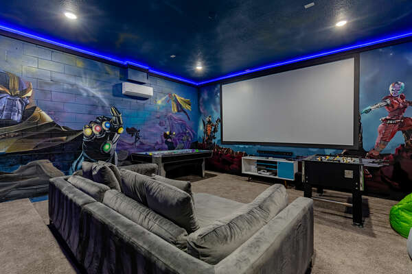 You`ll feel like a part of your favorite action film when you watch movies on this giant 120-inch projection screen