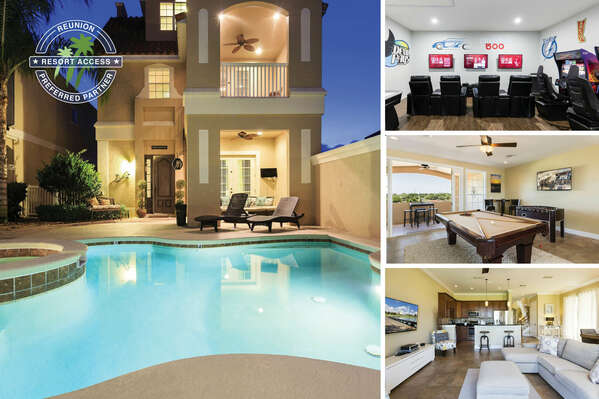 Vacation in Sunset Villa, a fantastic 6 bedroom home with 2 games rooms and 3 stories of balconies | PHOTOS TAKEN: May 2017