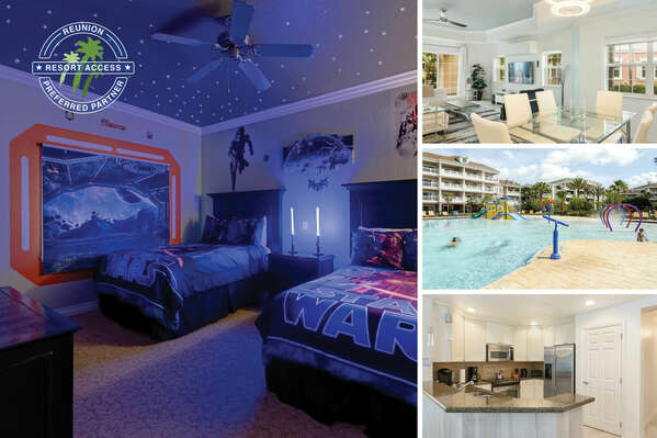 Welcome to Sandy Ridge Luxury, a luxurious 3 bed condo only steps to the Reunion Resort Splash Park. | PHOTOS UPDATED: April 2019