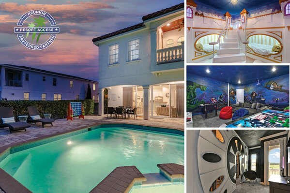 Stay at the Super Retreat, a 5 bedroom vacation rental villa in Reunion Resort, only miles away from Walt Disney World Resort | PHOTOS TAKEN: February 2021