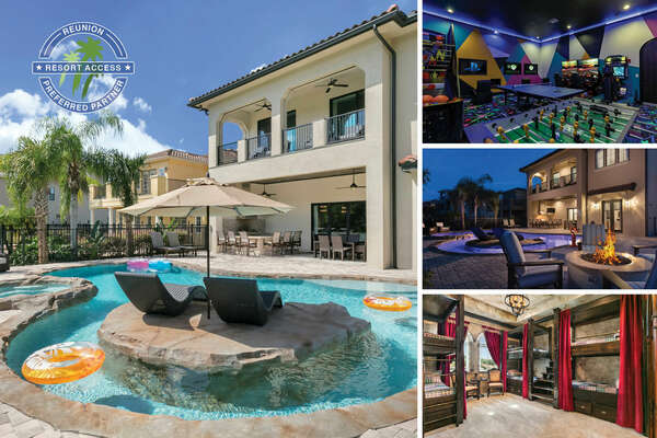 Welcome to The Magic Villa at Reunion, a 9 bed villa with private pool, lazy river, secret playroom, and custom kids bedrooms | PHOTOS TAKEN: January 2018