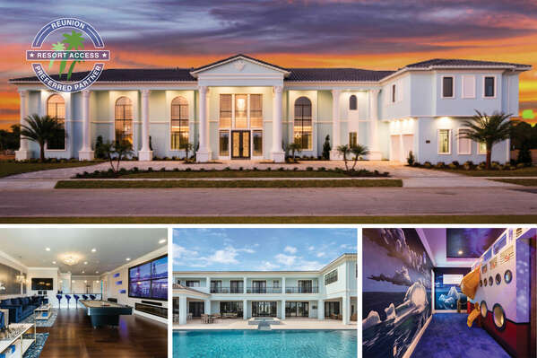 Welcome to The Atlantis at Reunion, a luxury 12 bed villa with home theater, fitness rooms and purpose-built kids bedrooms | PHOTOS TAKEN: 2018