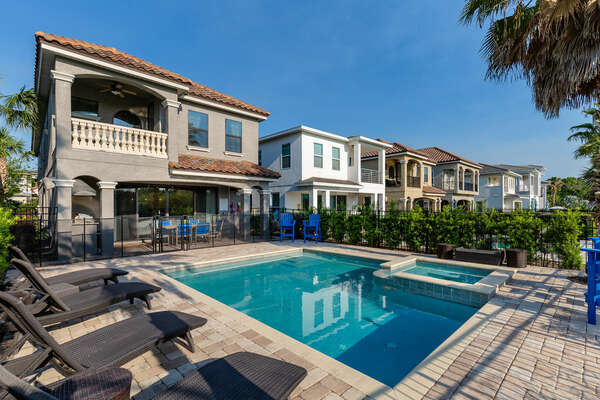 Take in Florida sunsets on the West facing pool position